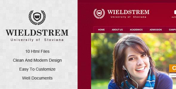 ThemeForest WieldStrem University 3054201