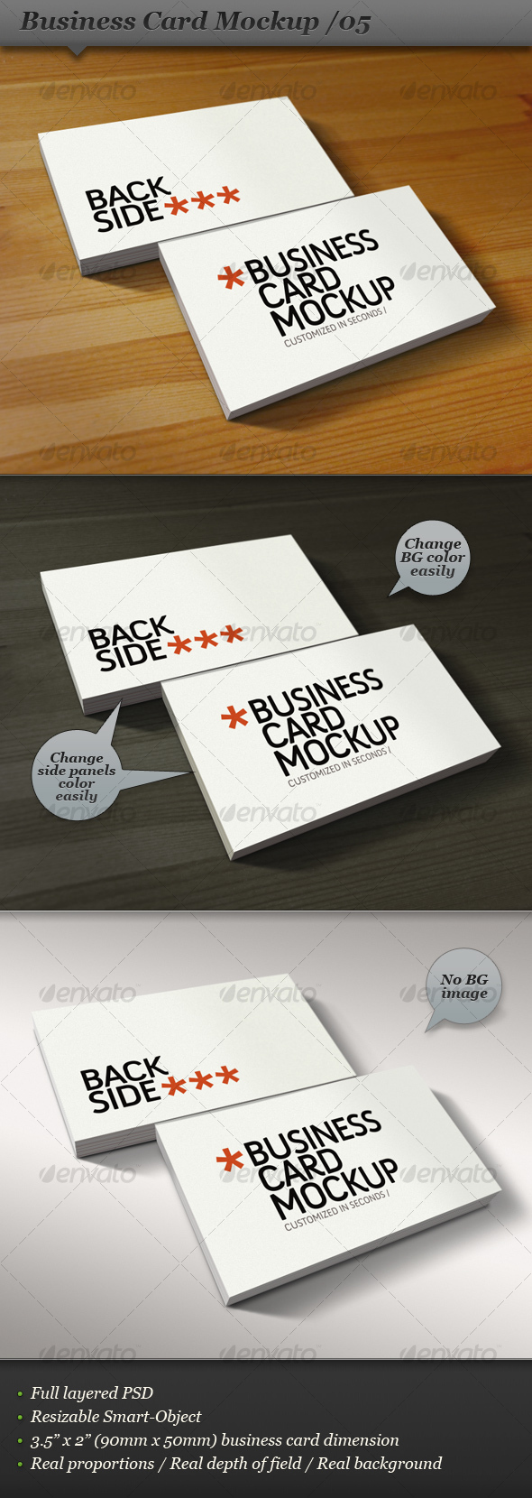 GraphicRiver Business card mockup display Smart template 05 108516