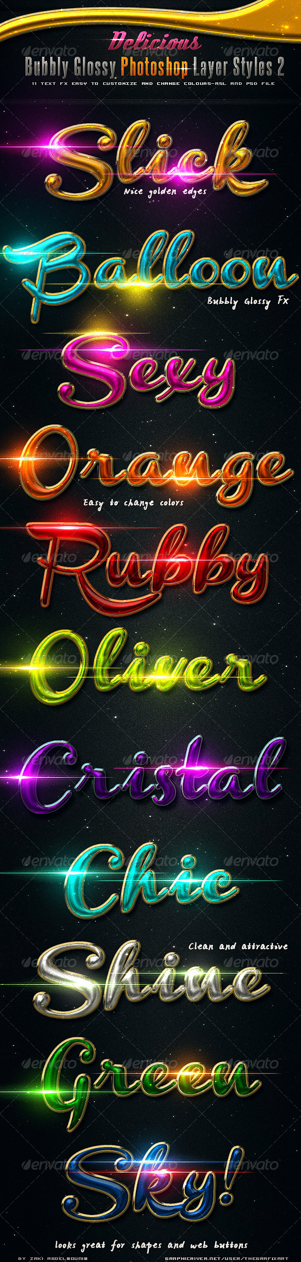 GraphicRiver Delicious Bubbly Photoshop Styles 2 3054912