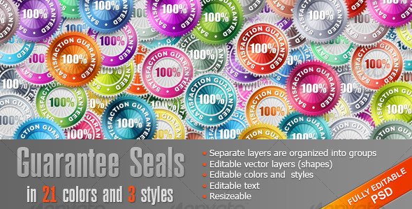 GraphicRiver Guarantee Seals 108611