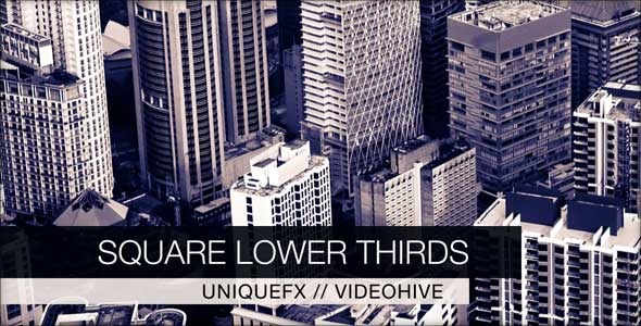After Effects Project - VideoHive Square Lower Thirds 3057449