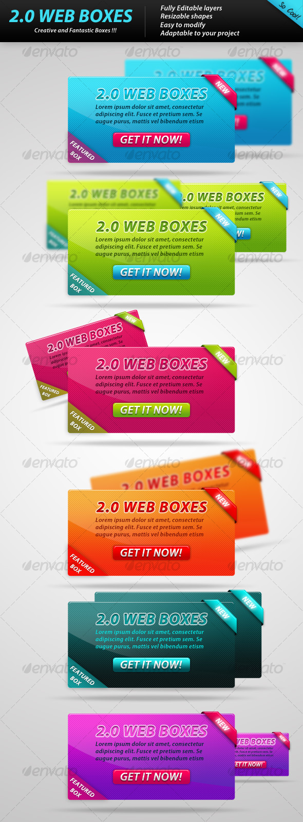 GraphicRiver 2.0 WEB BOXES 108652
