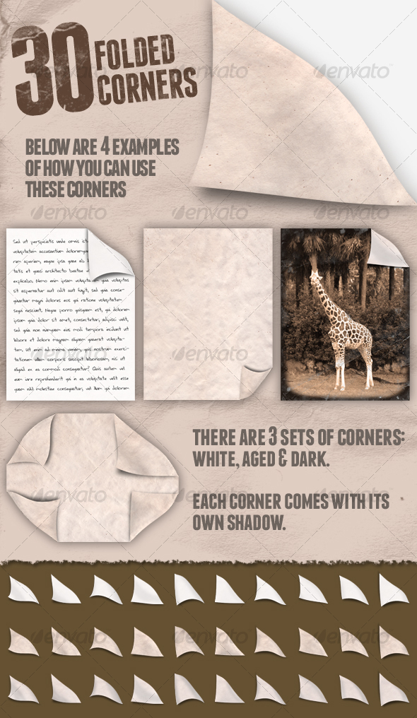 GraphicRiver 30 Folded Corners 108696