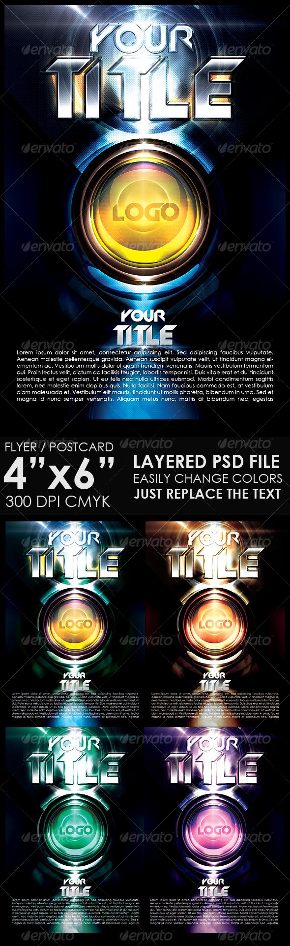 GraphicRiver Futuristic Flyer Template 108701