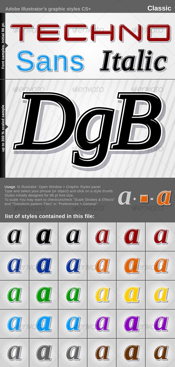 GraphicRiver Illustrator Graphic Styles Classic 108723
