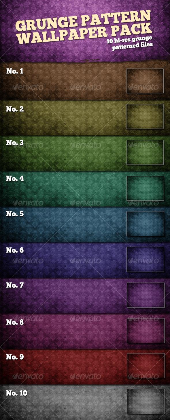 GraphicRiver 10 Hi-Res Grunge Wallpaper Patterns 108778