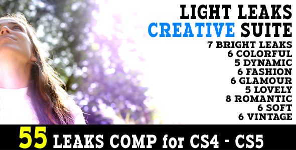 After Effects Project - VideoHive Light Leaks Creative Suite 55 Animations  ...