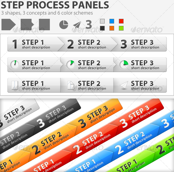 GraphicRiver Great Step Process Panels 108790
