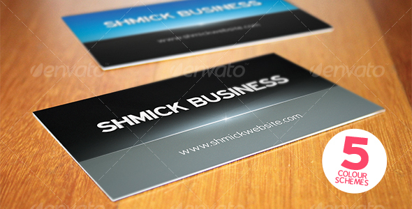 GraphicRiver Print ready shmick professional business card 108003
