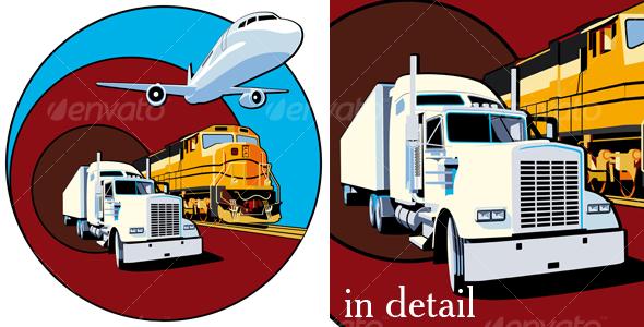 GraphicRiver Cargo transportation II 108915