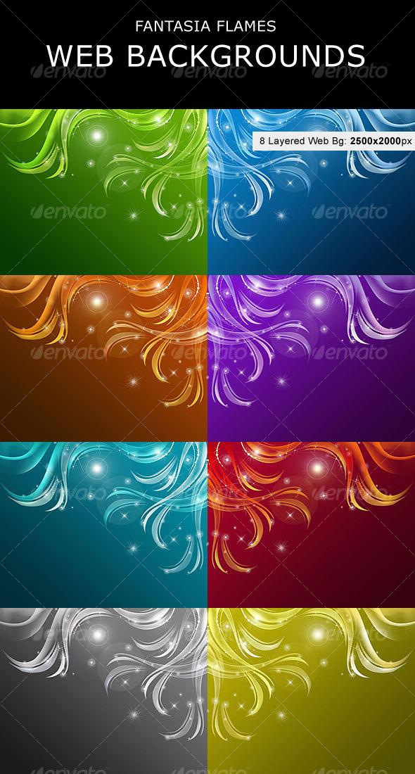 GraphicRiver Fantasia Flames Web Backgrounds 108923