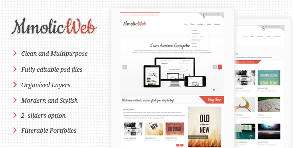PSD Templates – Mmolic web – Creative and Clean  Psd Template  | ThemeForest