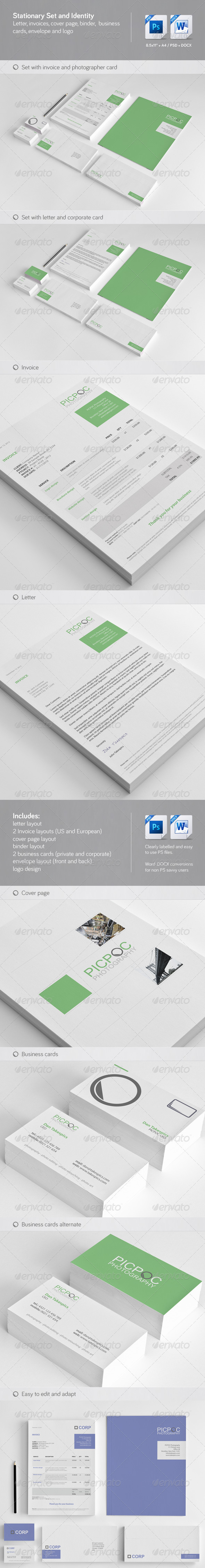 GraphicRiver Clean & Modern Stationary Invoice and Identity 3009834