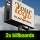 Set of 2 billboards for product/logo mockup - GraphicRiver Item for Sale