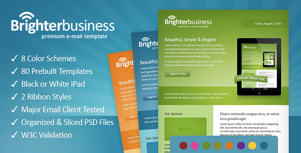 ThemeForest Brighter Business Email Template 3010774
