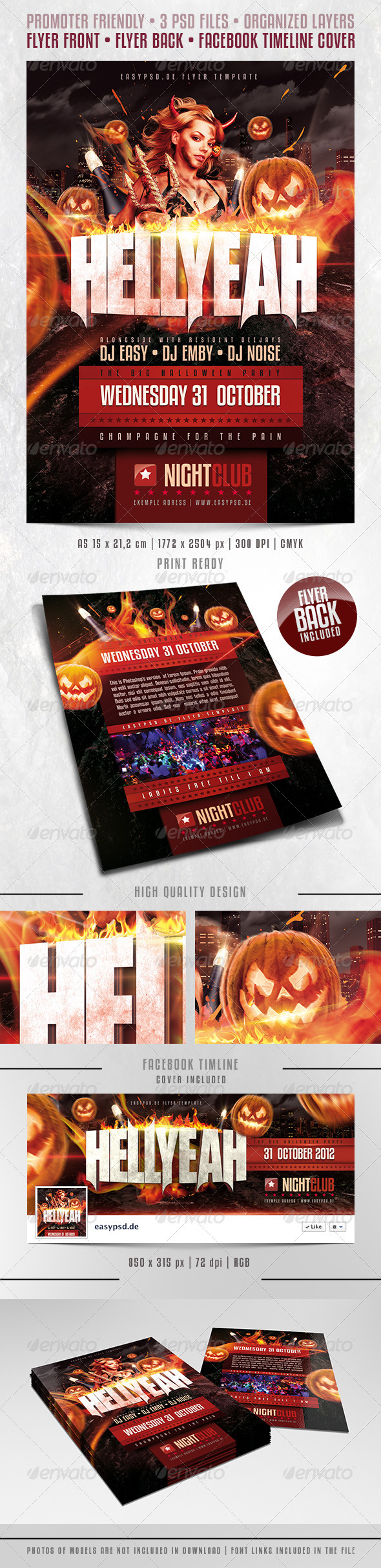 GraphicRiver HELLYEAH Flyer Template 3068227