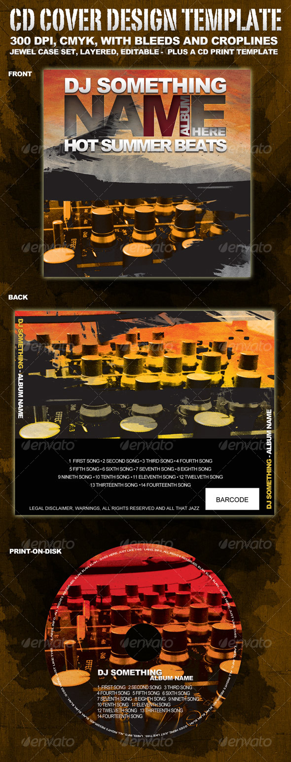 GraphicRiver CD Cover Template 109011