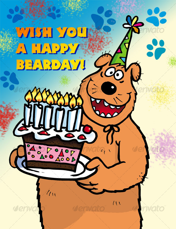 GraphicRiver Bear with Cake 109016