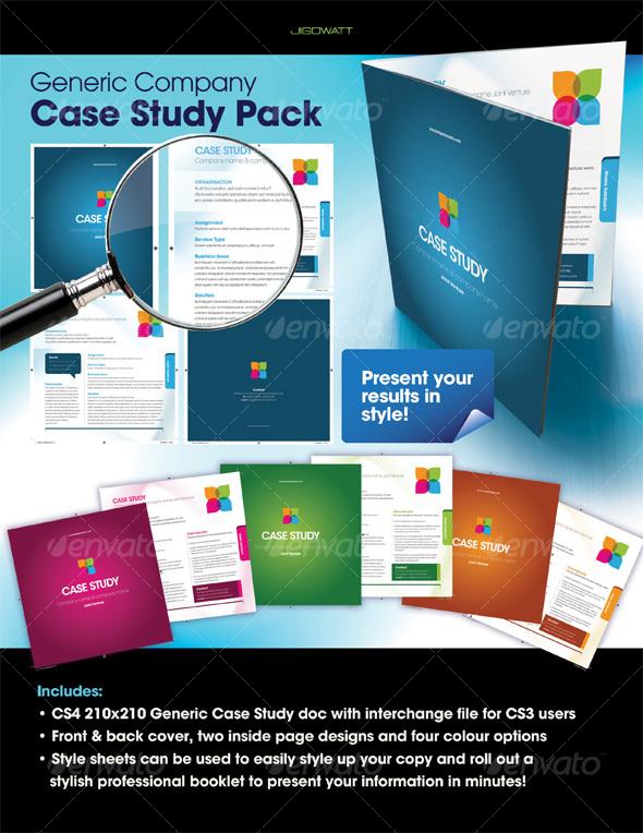 GraphicRiver Generic Company Case Study 105198