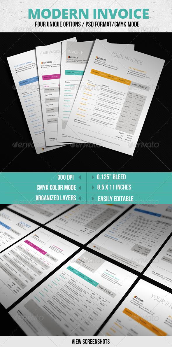 GraphicRiver Modern Invoice Template 3072724