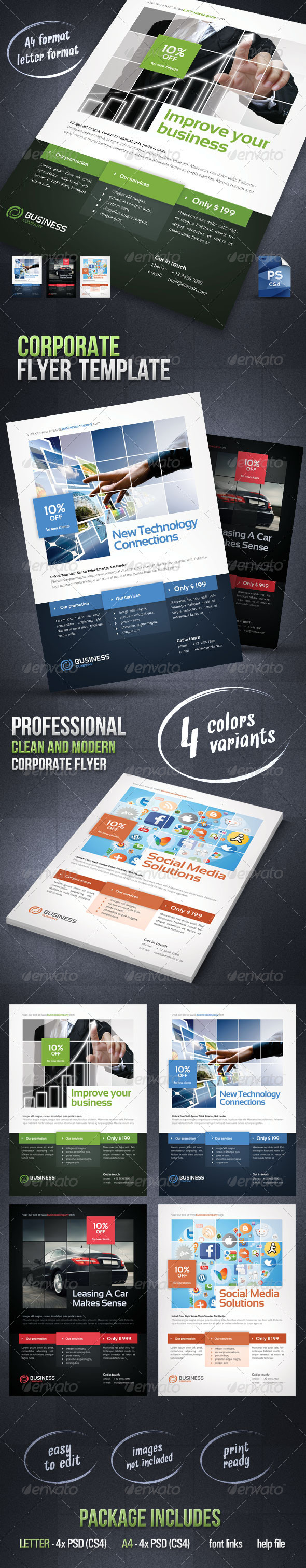 GraphicRiver Corporate Flyer Template 3075362
