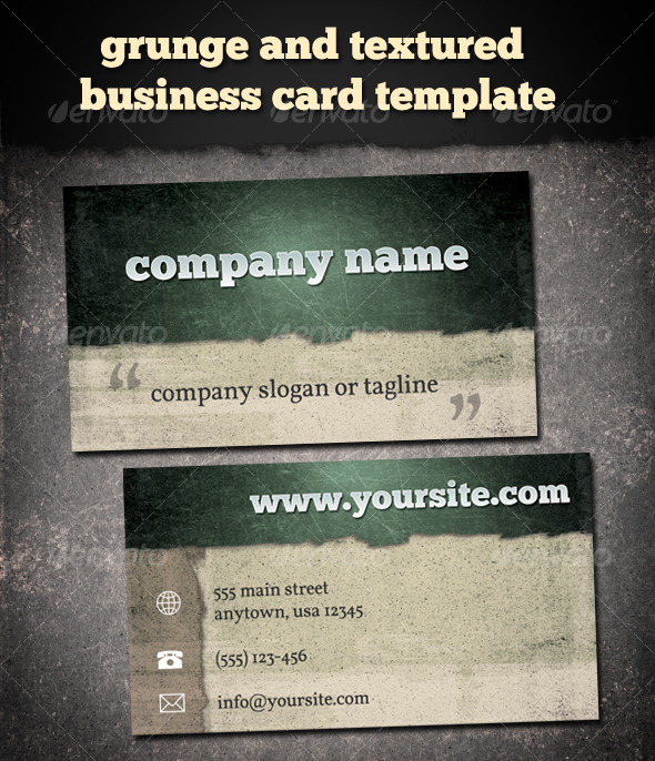 GraphicRiver Grunge & Textured Business Card 109207