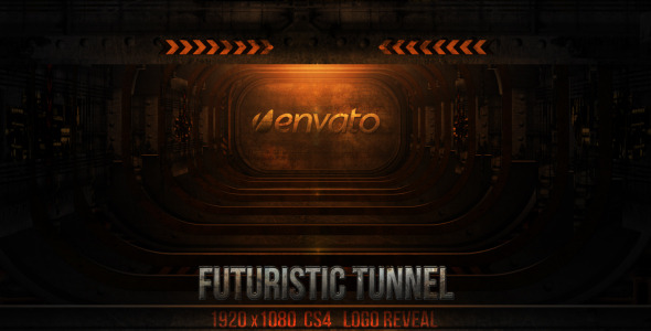 After Effects Project - VideoHive futuristic tunnel reveal 3078211
