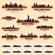 Skyline city set. 10 cities of USA #1 - GraphicRiver Item for Sale