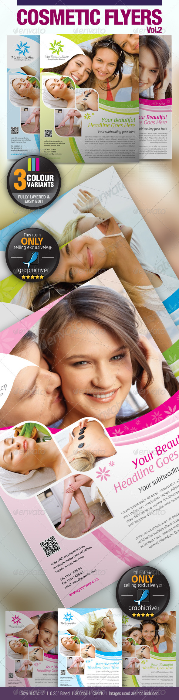GraphicRiver Cosmetic Flyer Vol.2 2634492