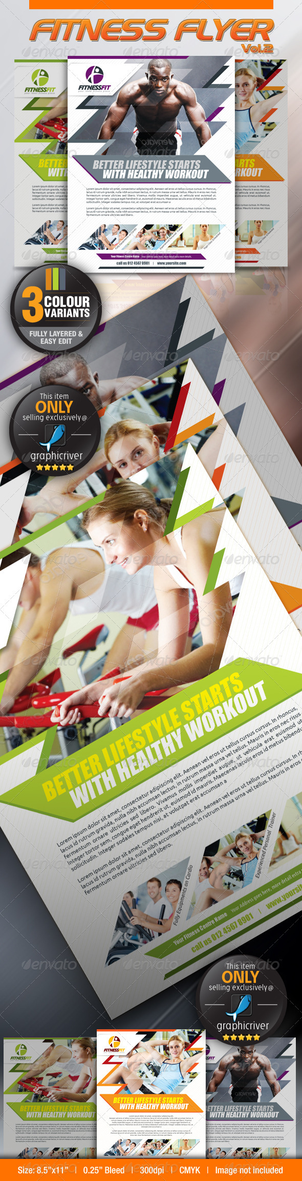 GraphicRiver Fitness Flyer Vol.2 2613127