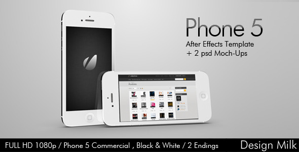 After Effects Project - VideoHive Phone 5 Commercial 3064440