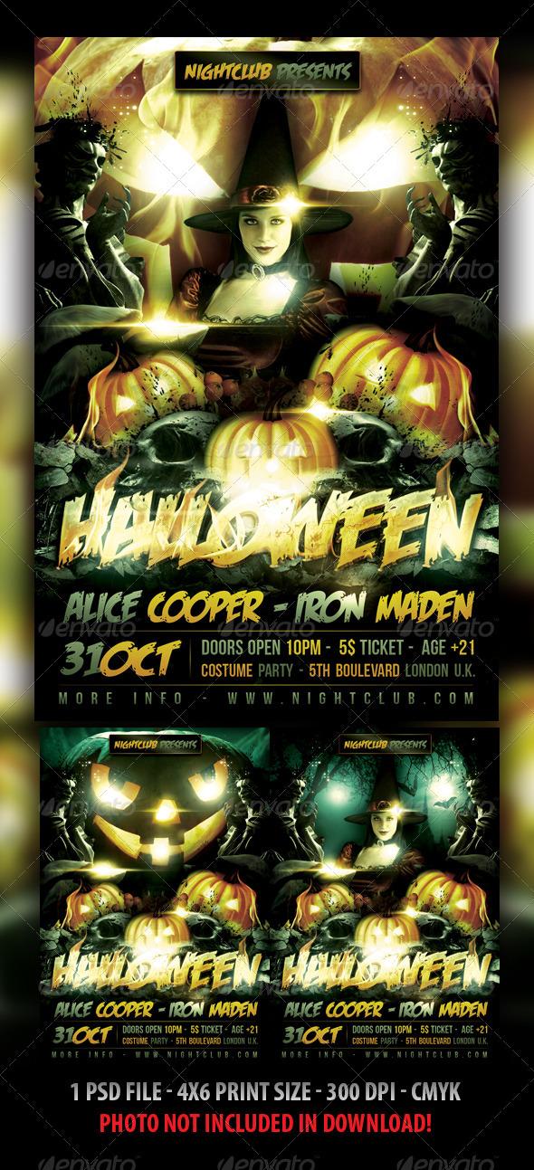 GraphicRiver Halloween Flyer Template 3060009
