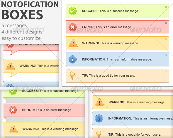 GraphicRiver Clean Notification Boxes 102854