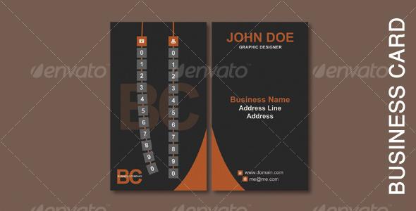 GraphicRiver Dark Business Card 109374