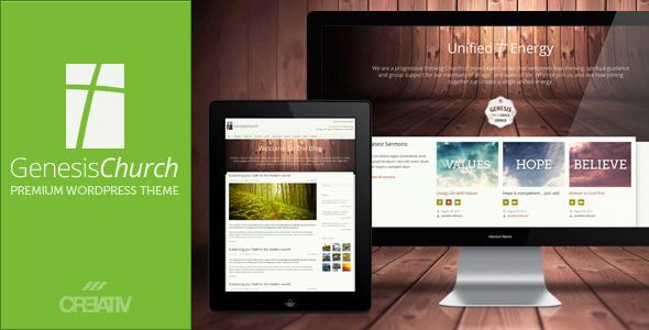 ThemeForest Genesis Church Premium Responsive WordPress Them WordPress Nonprofit Churches 3083436