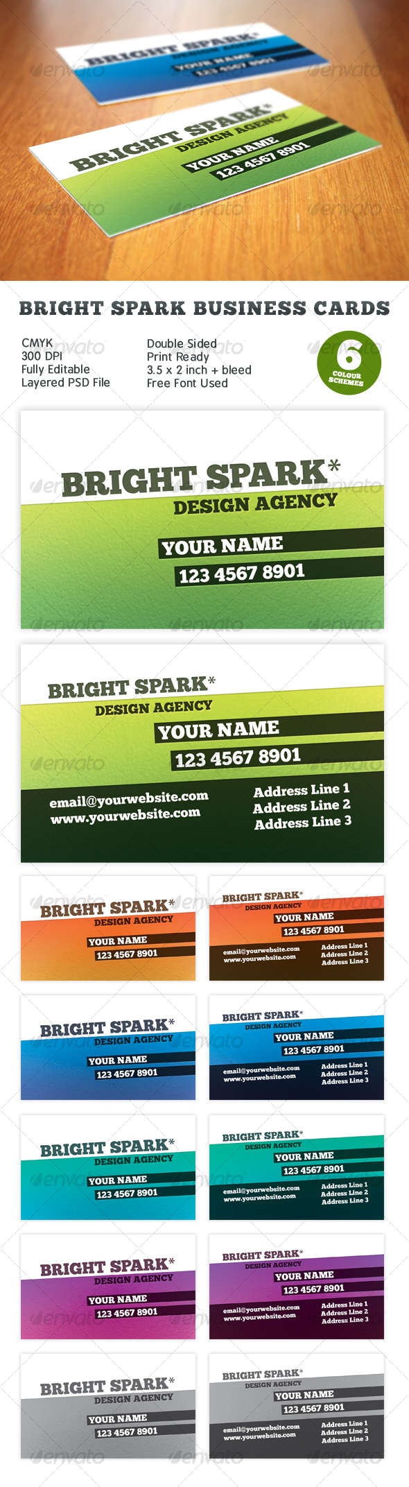 GraphicRiver Bright Spark Print Ready Business Card 108794