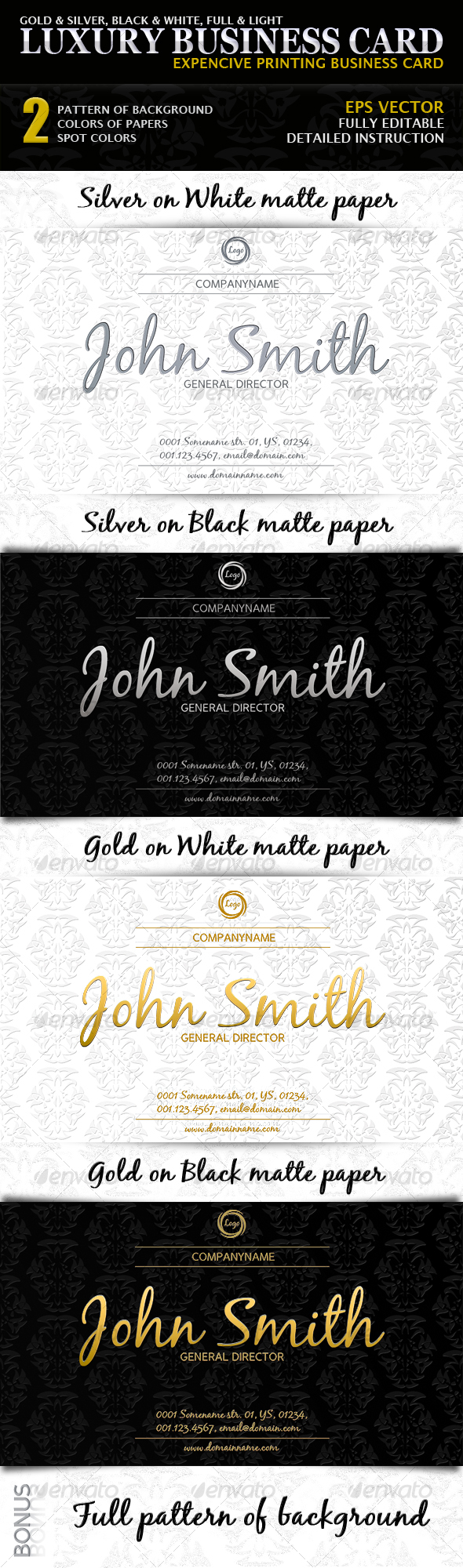 GraphicRiver Luxury Business Card 108068