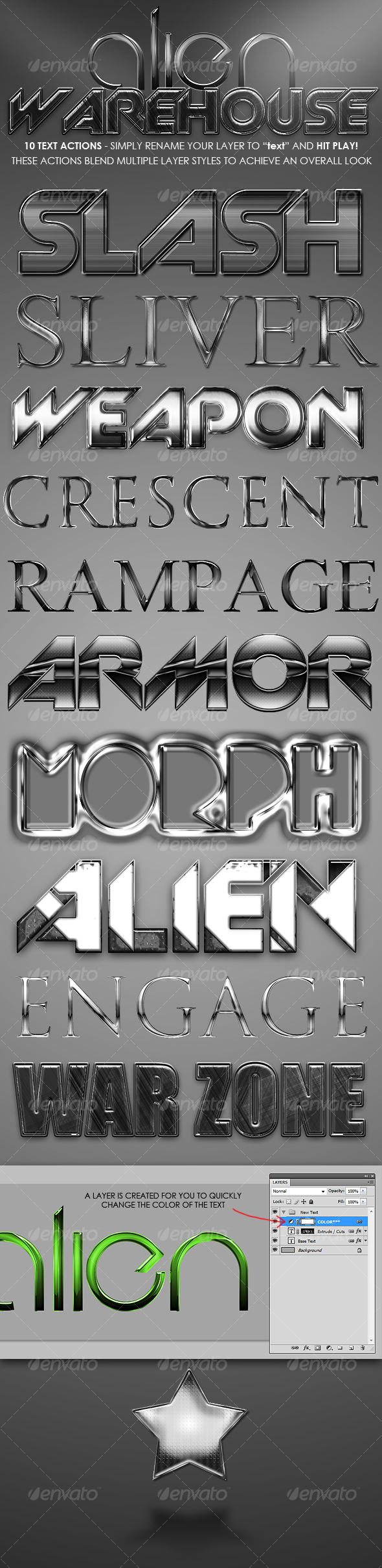 GraphicRiver Alien Warehouse Text Actions 109486