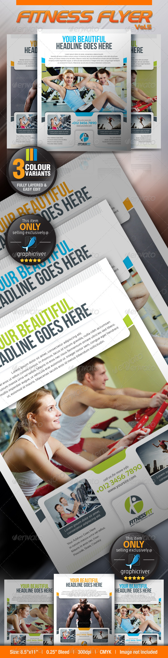GraphicRiver Fitness Flyer Vol.5 3014206
