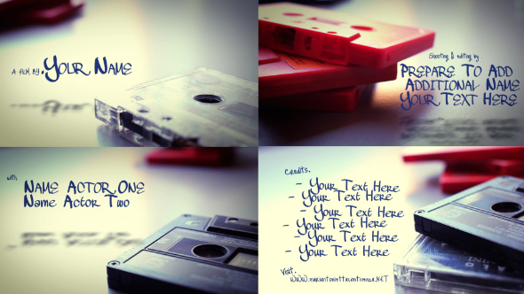 VideoHive Vintage Tapes Open Title 3090702