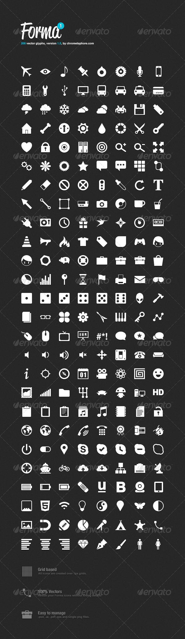 GraphicRiver Forma Icon Pack 1 403562