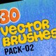 30 Special Vector Art Brushes_Pack 02 - GraphicRiver Item for Sale