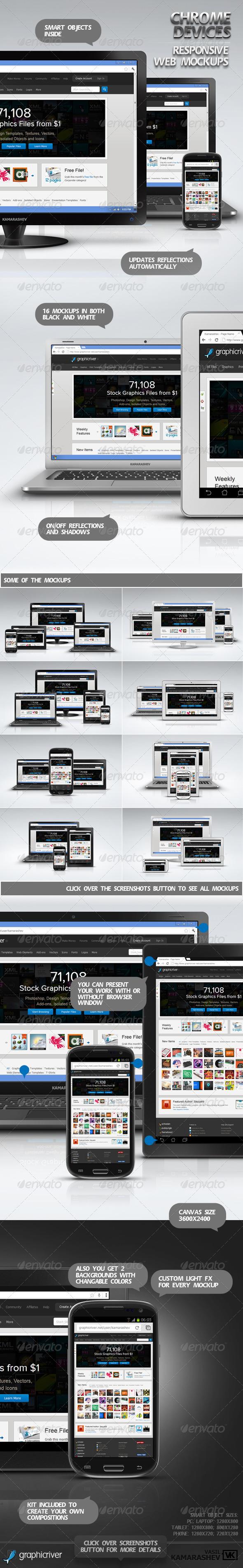 GraphicRiver Chrome Devices Responsive Web Mockups 3098595