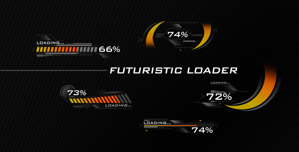 After Effects Project - VideoHive Futuristic Loading Screen 3099734