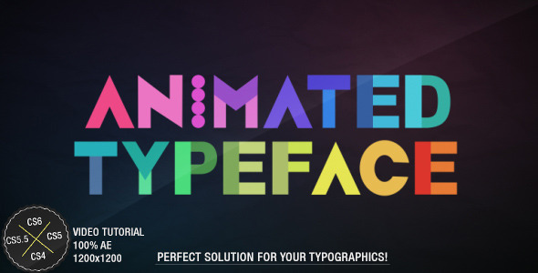 After Effects Project - VideoHive Animated Typeface 3100489