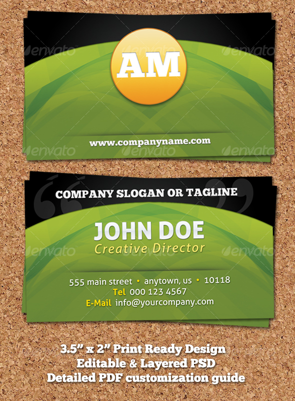 GraphicRiver Modern Colorful Business Card Design 109857