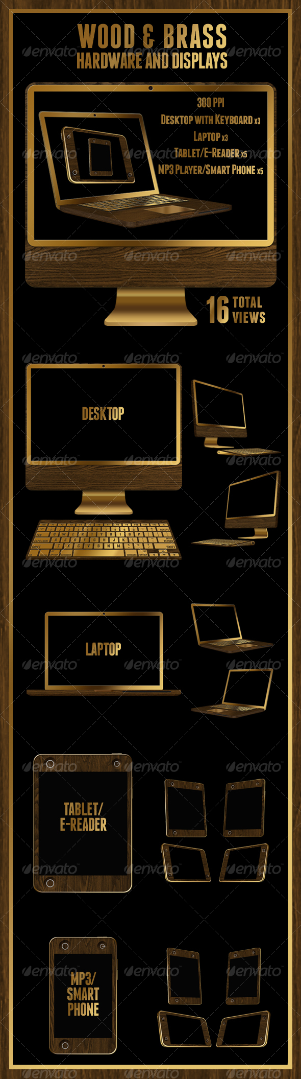 GraphicRiver Wood & Brass Hardware and Display 109887