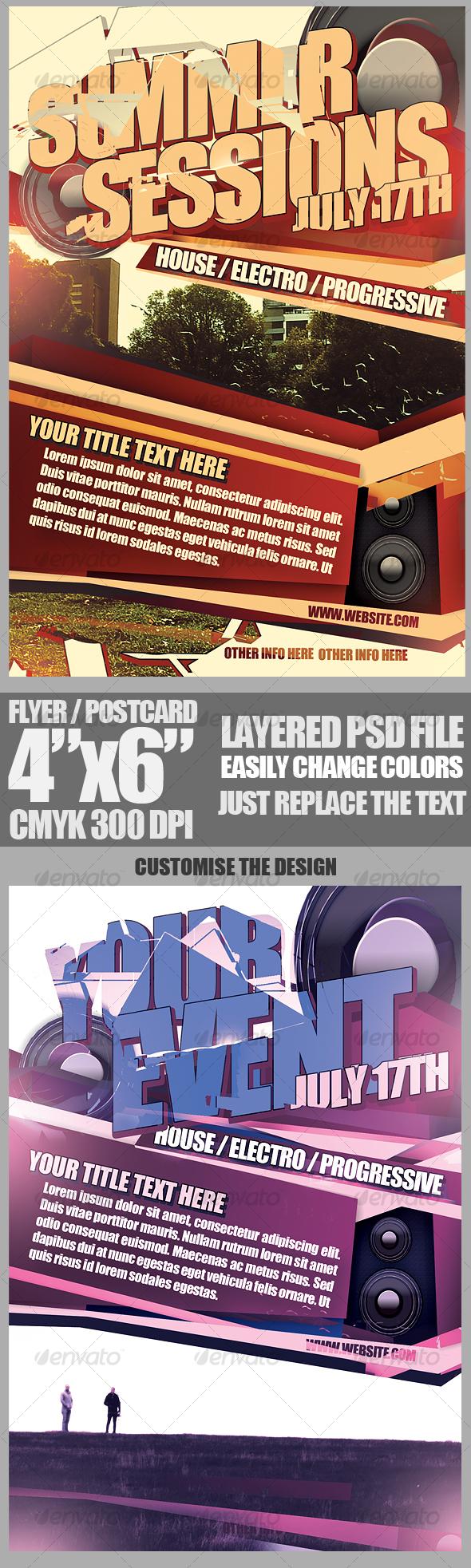 GraphicRiver Contemporary Flyer Template 109894