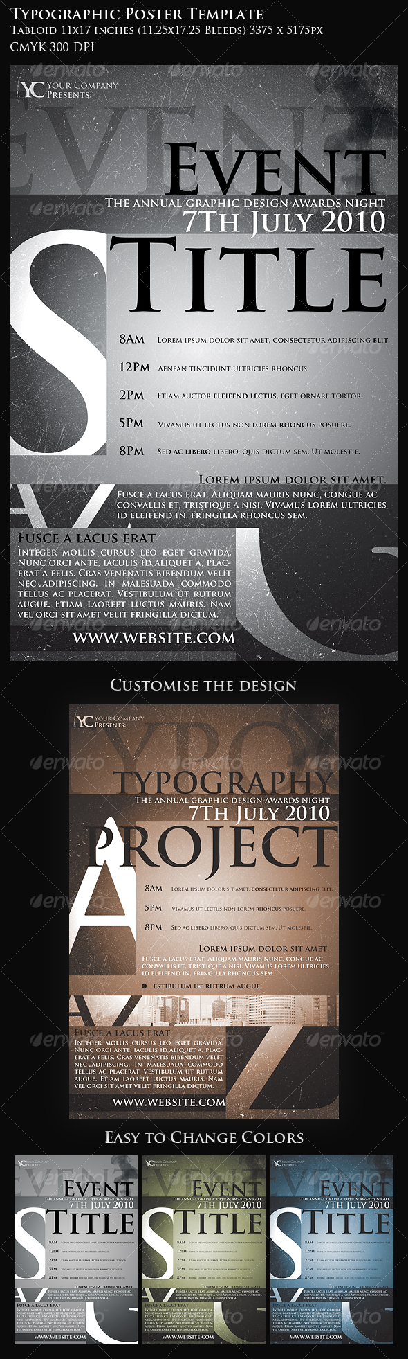GraphicRiver Typographic Poster Template 109916