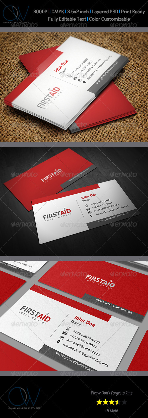 GraphicRiver First Aid Business Card 3102937